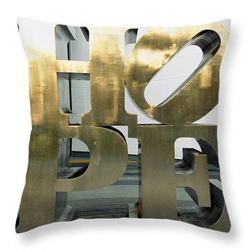 Throw Pillow featuring the photograph Hope Squared by Greg Allore