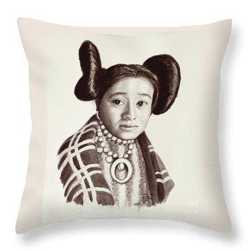 Hope Woman Throw Pillow