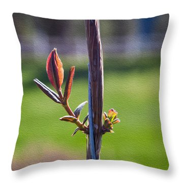 Hopeful Honeysuckle Throw Pillow by Omaste Witkowski