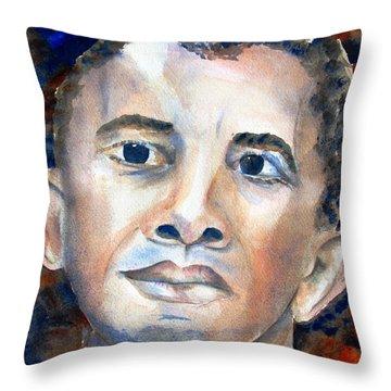 Hopeful - President-elect Throw Pillow by Carlin Blahnik