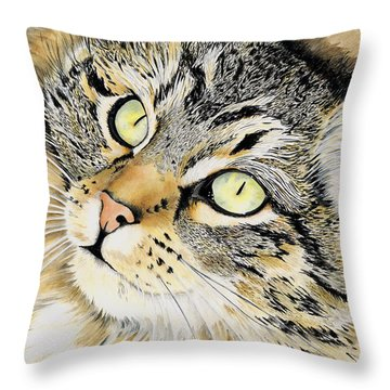 Hopeful Throw Pillow by Shari Nees