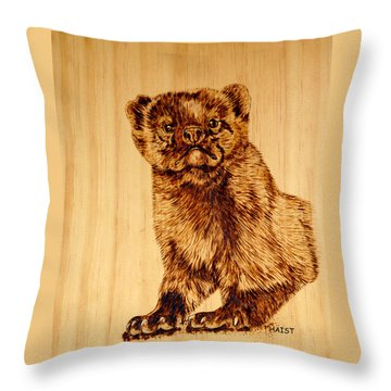 Hope's Marten Throw Pillow by Ron Haist