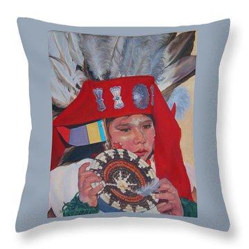 Hopi Basket Dancer Throw Pillow