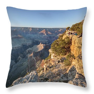 Throw Pillow featuring the photograph Hopi Point Grand Canyon by Martin Konopacki