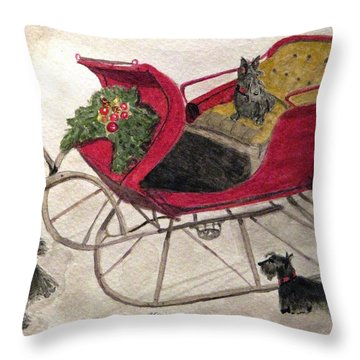 Hoping For A Sleigh Ride Throw Pillow