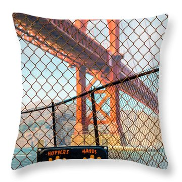 Hoppers Hands Throw Pillow