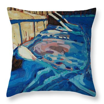 Hopping Down The Bunny Highway Throw Pillow by Phil Chadwick