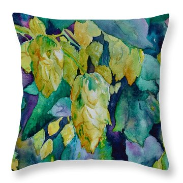 Hops Throw Pillow