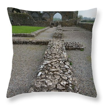 Hore Abbey Throw Pillow