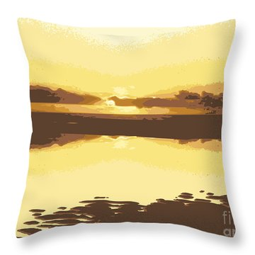 Horizon 2 Throw Pillow