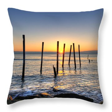 Horizon Sunburst Throw Pillow