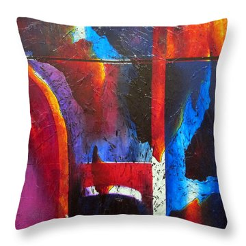 Horizons I Throw Pillow