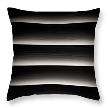 Horizontal Blinds Throw Pillow by Darryl Dalton