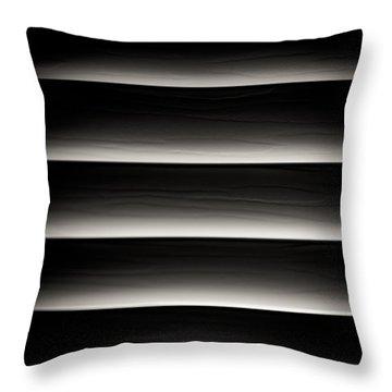 Horizontal Blinds Throw Pillow