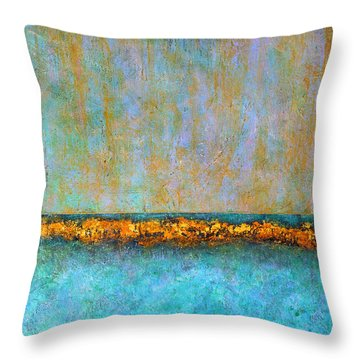 Horizontal Reef Throw Pillow by Jim Whalen