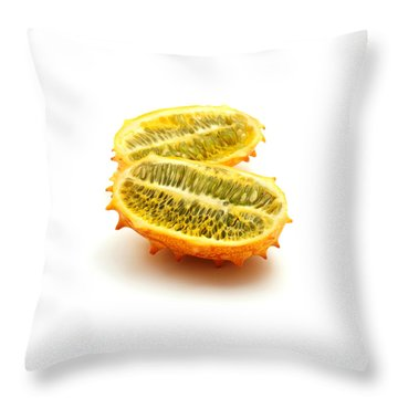 Horned Melon Throw Pillow by Fabrizio Troiani