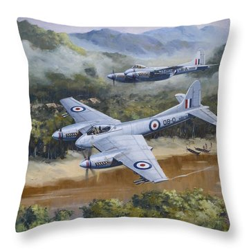 Hornet Sting Throw Pillow by Colin Parker