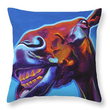 Horse - Finn Throw Pillow by Alicia VanNoy Call