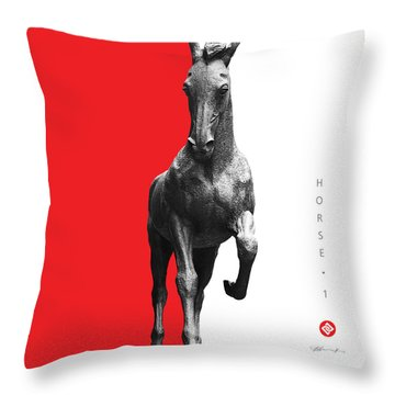 Horse 1 Throw Pillow