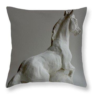 Horse 2 Throw Pillow by Derrick Higgins