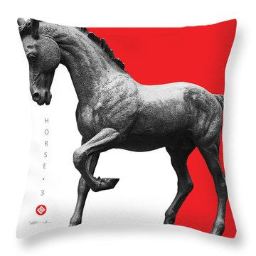Horse 3 Throw Pillow