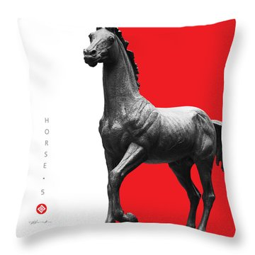 Horse 5 Throw Pillow
