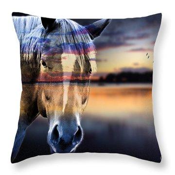 Horse 6 Throw Pillow