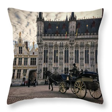 Horse And Carriage Throw Pillow