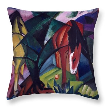 Horse And Eagle Throw Pillow by Franz Marc