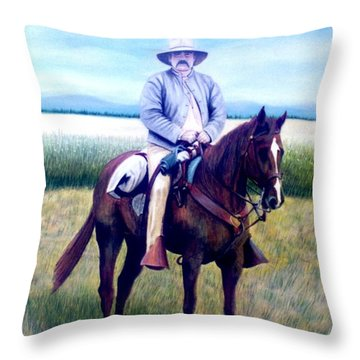 Horse And Rider Throw Pillow