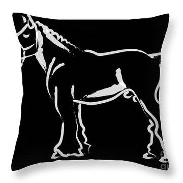 Horse - Big Fella Throw Pillow