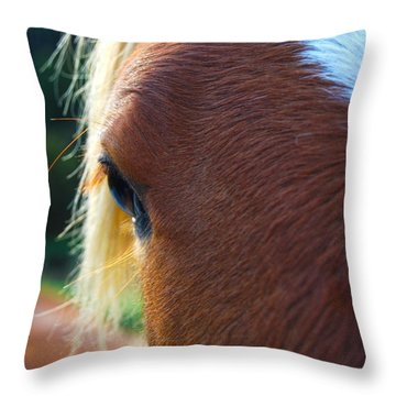 Horse Close Up Throw Pillow