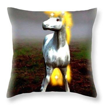 Throw Pillow featuring the digital art Horse by Daniel Janda