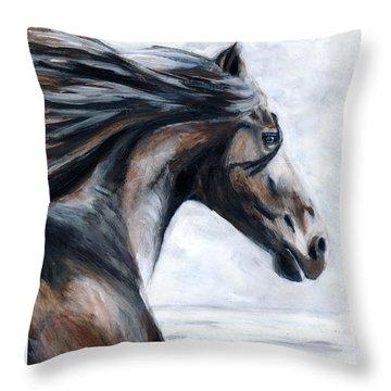 Horse Throw Pillow by Denise Deiloh