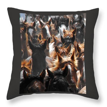 Horse Ears Throw Pillow