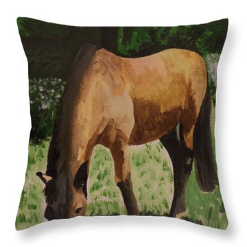 Horse Throw Pillow by Isabella F Abbie Shores FRSA