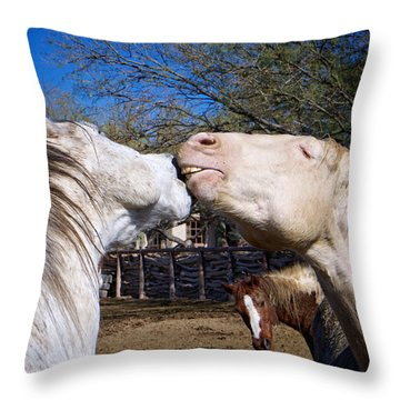 Horse Emotion Throw Pillow