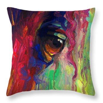 Horse Eye Portrait  Throw Pillow by Svetlana Novikova