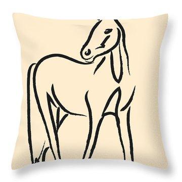 Horse - Grace Throw Pillow