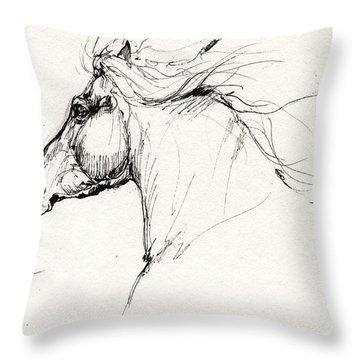 Horse Head Study 2014 05 28 Throw Pillow