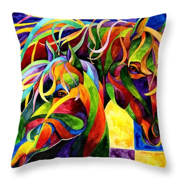 Horse Hues Throw Pillow
