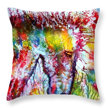 Horse In Abstract Throw Pillow by Anastasis  Anastasi