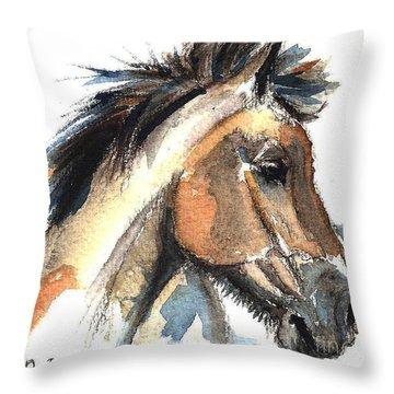 Horse-jeremy Throw Pillow