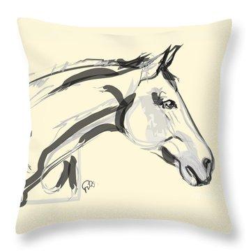 Horse - Lovely Throw Pillow