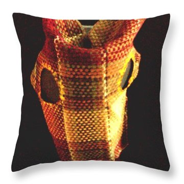 Native American Horse Mask Throw Pillow by Stacy C Bottoms