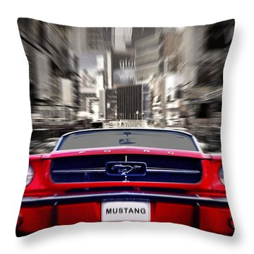 Horse Power Throw Pillow by Mark Rogan