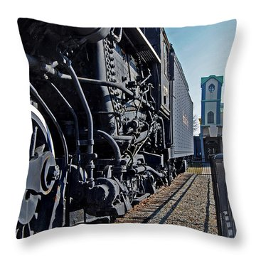 Horse Power Throw Pillow by Skip Willits