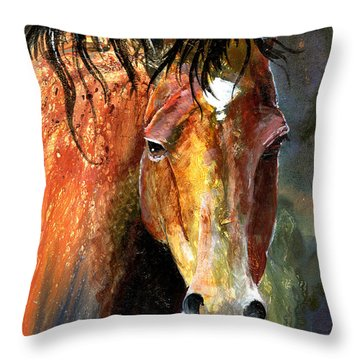 Horse Throw Pillow by Sherry Shipley