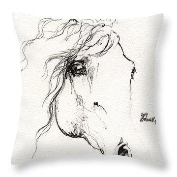 Horse Sketch 2014 05 24a Throw Pillow