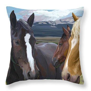 Horse Talk Throw Pillow